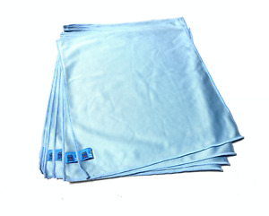10 PROFESSIONAL LARGE MICROFIBRE CLOTHES FOR GLASS CAR VALETING DETAILING
