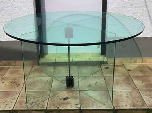Glastisch 140cm Rund Esstisch Besprechungstisch Konferenztisch Rundtisch Glas