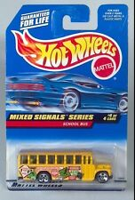 DD Hot Wheels 736 Mixed Signals Ford B Series School Bus Die Cast Scale Model