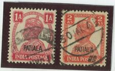 India - Convention States - Patiala Stamps Scott  #105,108 (2)Used,FVF  (X6517N)