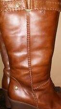 UGG Australia Brown Leather  Wedge Boots Size 8.