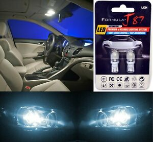 LED 5050 Light White 6000K 194 Two Bulbs License Plate Tag Upgrade Fit SMD JDM