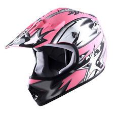 Youth Dot Motocross Helmet Motocycle Atv Mx Bmx Bike Kids Star Matt Pink