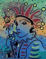 "Original Oil Painting ""THE JOKER"" Canvas 16"" x 20"" (Picasso/Matisse/Miro/Monet)"