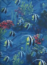 Fish Ocean Sea Blue Bathroom Window Curtain Valance Decor