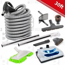 NEW 30ft Central Vac Vacuum Electric Hose Powerhead Attachment & Tool Kit