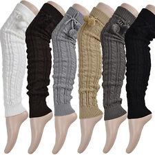 Women's Winter Crochet Knitted Stocking Leg Warmers Boot Thigh High Socks Fancy