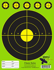 10 PACK: PAPER SHOOTING SNIPER TARGETS: CLASSIC SERIES Z-GREEN T-006