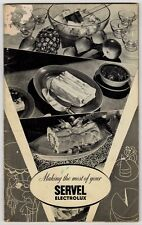 40s Vintage Recipes Instructions Book Making the most of your Servel Electrolux