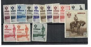 SOMALIA  Scott # B38 - B51  MINT / HINGED;  SCV $280.00