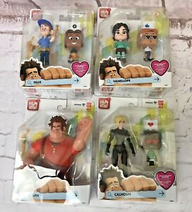 4 x Figures Wreck-It 2 Ralph Breaks The Internet Ralph Vanellope Calhoun Felix