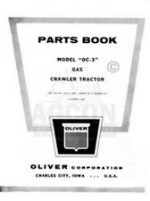 Oliver Oc 3 Gas Crawler Tractor Parts Book Manual Oc3
