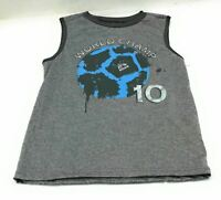 RBX Boys Sleeveless  Shirt Gray World Champ Size 7