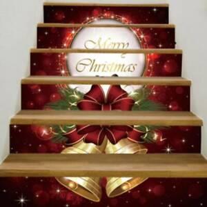 Christmas Stair Sticker Self-adhesive Waterproof Waistline Mural Wall Decals P3