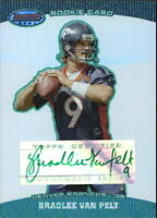 2004 Bowman's Best Green Denver Broncos Football Card #132 Bradlee Van Pelt AU