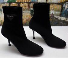 Prada Stretch-Knit Ankle Booties - Size 40.5 - $950