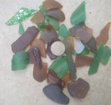 36 Mix size pcs Natural Genuine Mix Color sea glass Israel  READ DESCRIPTION