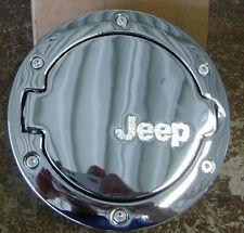 07 17 Jeep Wrangler New Chrome Fuel Filler Door 4 Door Mopar Factory Oem