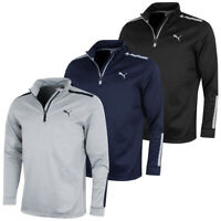 Puma Golf Mens Midweight 1/4 Zip Moisture Wicking WarmCELL Fleece 46% OFF RRP