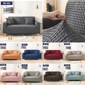 1/2/3/4 Seater Elastic Lattice Sofa Cover Armchair Couch Slipcover Protector