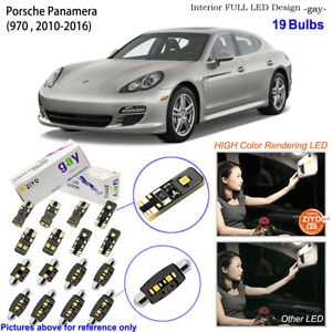 19 Bulbs Deluxe LED Interior Light Kit White For 970 2010-2016 Porsche Panamera