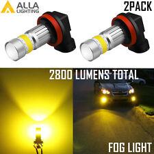 AllaLighting H8 7-LED 3000K Yellow Fog Light Bulb|DRL|Cornering Lamp Replacement