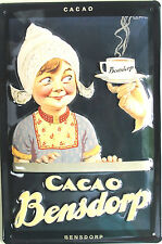"Cacao Bensdorp 8"" X 12"" Embossed Metal Sign"