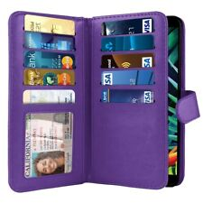 Purple Flip Wallet Pouch TPU Case Cover For LG K40 /Harmony 3 / Xpression Plus 2