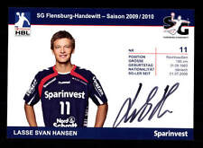 Lasse Svan Hansen Autogrammkarte SG Flensburg Handewitt 2010-11 Origina+A 164307