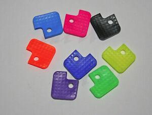 3 Schlüsselkappen Schlüsselmarkierer Schlüsselkennringe eckig