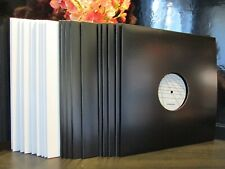 "Vinyl LP/12"" High Quality Cardboard Jackets/Sleeves With 3mm Spine (10 Black)"
