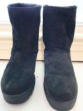 Canterbury Sheepskin Black Boots Size 10 (women) Size 9 (men) Size 42 ( Euro)