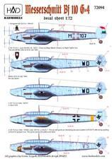 Hungarian Aero Decals 1/48 MESSERSCHMITT Bf-110G-4 Fighter Bomber
