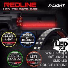"60"" DOUBLE LED Tailgate Bar Turn Signal Brake LED Light Bar Strip Truck Rear"