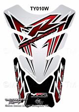 Yamaha YZF R1 / R6 White Red Motorcycle Tank Pad Motografix 3D Gel Protector