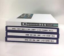 """RTM CAPTURE 7"""" PLASTIC REEL SAMPLE PACK SM900 SM911 SM468 CAP914"""