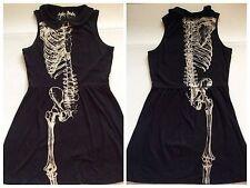 Iron Fist Skeleton Wishbone Dress Black XL Sleeveless Knit