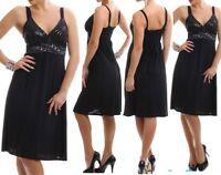 SeXy Miss Damen Kleid Glitzer Steine Dekollete Edel Dress 34/36 schwarz TOP NEU
