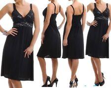 SeXy Miss Damen Kleid Glamour Steine Dekollete Edel Dress 34/36 schwarz TOP NEU