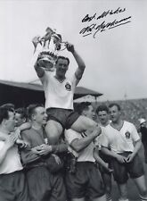 Nat Lofthouse - Bolton Wanderers F.C. & England F.A. Cup In Person Signed Photo.