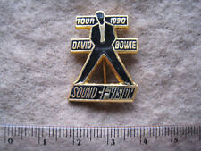 DAVID BOWIE OFFICIAL 1990 TOUR SOUND+ VISION ENAMEL LAPEL BADGE/PIN