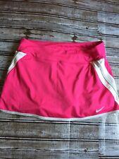Nike Fit Dry Women's Tennis/Athletic Skirt/Skort SZ: L Pink/White