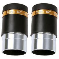 """2x 1.25"""" 31.7mm 62-Deg Eyepiece Lens 23mm Fully Coated for 31.7mm Telescope HOT!"""