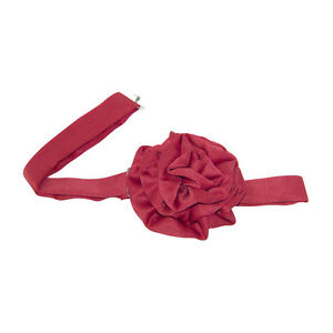 Red Satin Rosette Banded Bow Tie