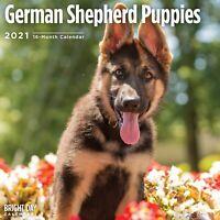 2021 German Shepherd Puppies 12 x 12 Wall Calendar Cute Dog