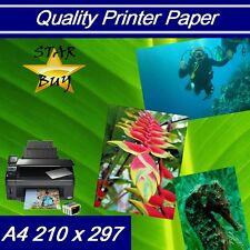 A4 160 Gsm Papel De Impresora Láser 2 Lados Brillante x 500 Hojas-Ideal Para LEAFLETS