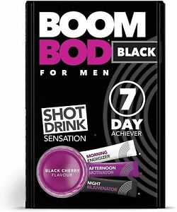BOOMBOD FOR MEN WEIGHT LOSS SHOT DRINK 7 DAY ACHIEVER BLACK CHERRY 21 SACHETS