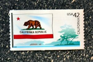 2008USA #4279 42c California State Flag - Flags of Our Nation  Mint NH  bear
