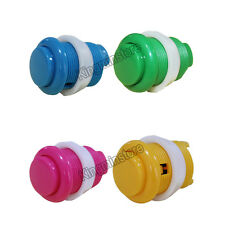4pcs Arcade Game 28mm Strengthened Round Convexity Push Button With Micro switch