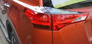 Chrome Tail Light Tailgate Lamp Surround Garnish for Toyota RAV4 2012-15 40